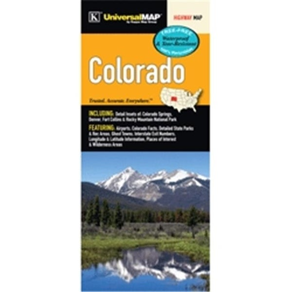 Universal Map 10758 Colorado State Waterproof Map