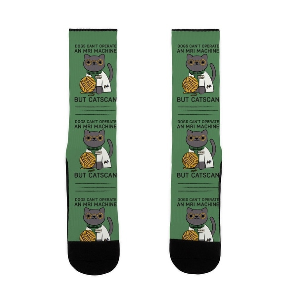 Dogs Can't Operate an MRI Machine US Size 7-13 Socks by LookHUMAN