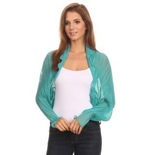 Womens Chiffon Pleated Shrug (More options available)