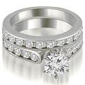 3.69 cttw. 14K White Gold Cathedral Round Cut Diamond Bridal Set - Thumbnail 0