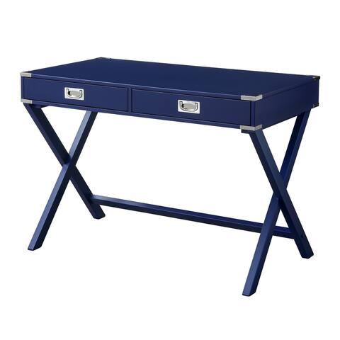 ACME Amenia Writing Desk in Navy Blue Finish