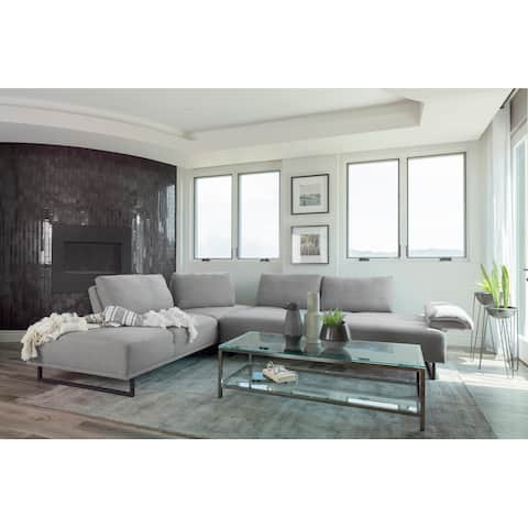 Strick & Bolton Sturgill Taupe Upholstered 2-piece Sectional