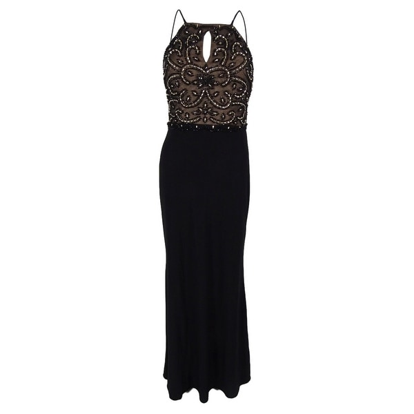 28176cba Shop Xscape Women's Embellished Empire Waist Dress - Black - 6 - Free  Shipping On Orders Over $45 - Overstock - 14816047