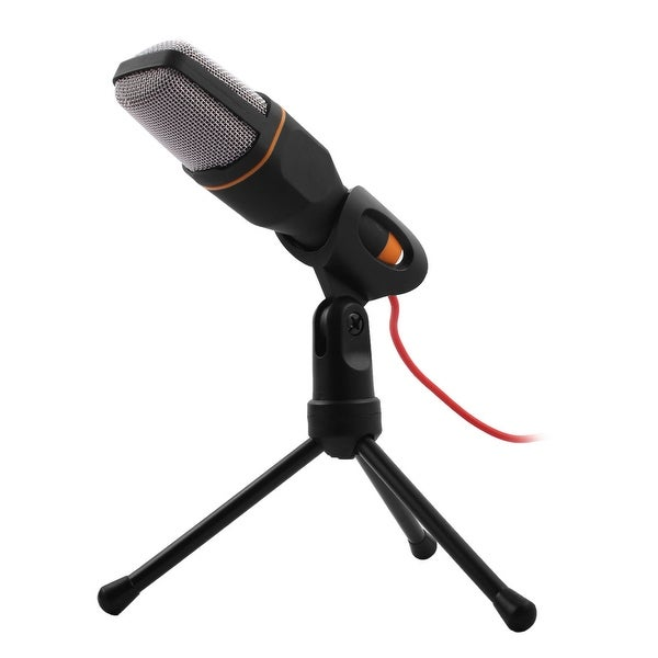 PC Laptop Computer 3.5mm Jack Condenser Sound Podcast Studio Microphone Black