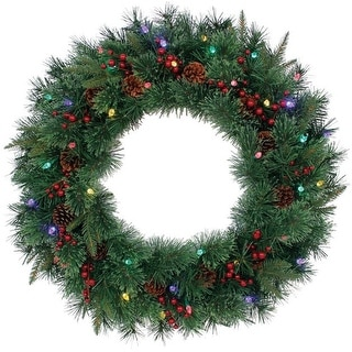 "J & J Seasonal HYD4K27B30TRYS Hyde Park Christmas Wreath, 30"", Multicolored"