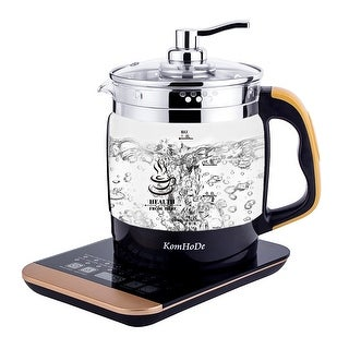 KomHoDe Glass Electric Kettle,1.8Liter (Black&Stainless Steel) Multi Function Electric Tea Kettle