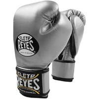 Cleto Reyes Lace Up Hook and Loop Hybrid Boxing Gloves - Titanium