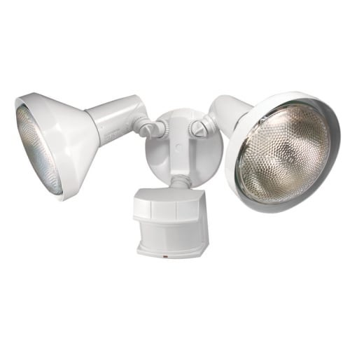 Heath Zenith HZ-5318 2 Light 7-11/16  Wide Outdoor Dual Head Flood Light - Motion Sensor Activated - Free Shipping Today - Overstock.com - 22783933  sc 1 st  Overstock.com : heath zenith outdoor lighting - www.canuckmediamonitor.org