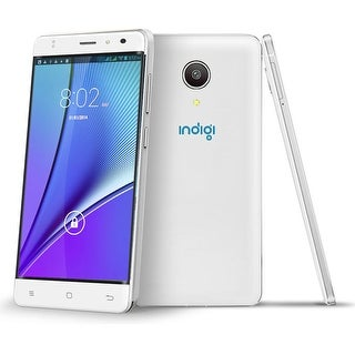 Indigi NEW! Slim 5in 4G LTE Smart Cell Phone Android 6.0 Marshmallow (Factory Unlocked) - White