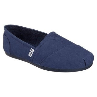 BOBS from Skechers Women's Plush - Peace and Love Flat,NVS-Navy