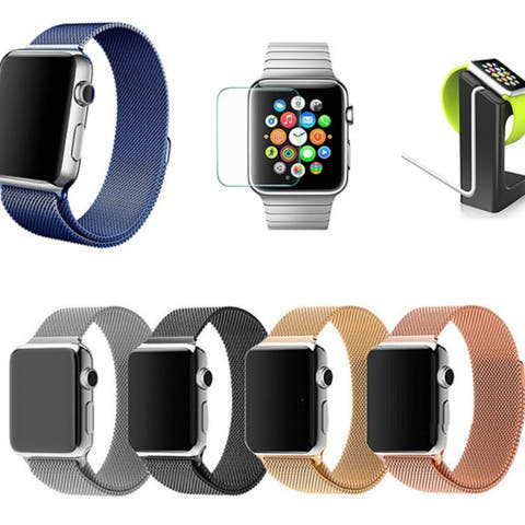 iPM Milanese Mesh Loop Band Set with Band, Stand, & Screen Protector