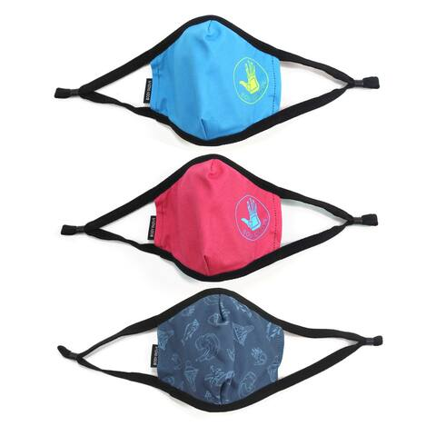 Body Glove 3-Piece Kid's Cloth Face Mask Set - S