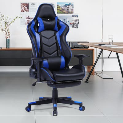 GZMR Racing Gaming Chair with Footrest