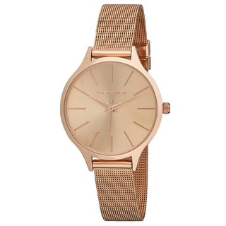 Link to Vernier Womens Round Case Long Index Mesh Strap Watch Similar Items in Women's Watches