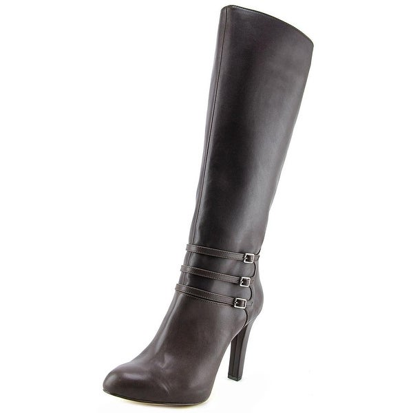 INC International Concepts Brookey Women Synthetic Brown Knee High Boot