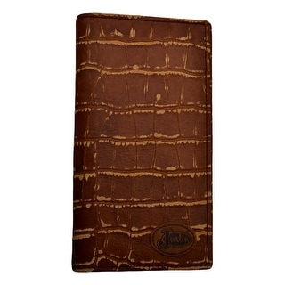 """Justin Western Wallet Mens Outhouse Congo Croc Print Rodeo Tan WJB262 - 6 3/4"""" x 3 5/8"""""""