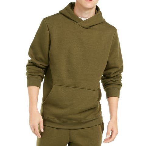 Ideology Mens Hoodie Army Native Green Size 2XL Fleece Lined Pullover