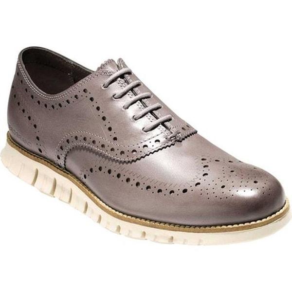 e57fb83cc0 Shop Cole Haan Men's ZEROGRAND Wingtip Oxford Ironstone Leather - On ...