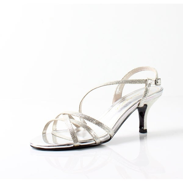Caparros NEW Silver Womens Shoes Size 7.5M Theresa Strappy Sandal