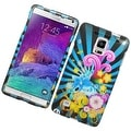 Insten Colorful Fireworks Hard Snap-on Rubberized Matte Case Cover For Samsung Galaxy Note 4 - Thumbnail 0