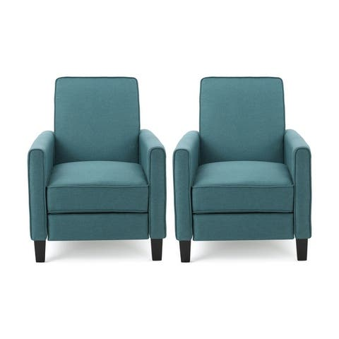 Darvis Contemporary Fabric Recliner (Set of 2) by Christopher Knight Home