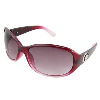 Metal Detail Arms Ladies Plastic Full Frame Sunglasses