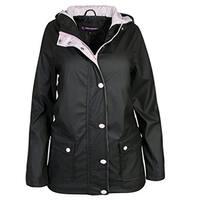 Urban Republic Little Girls Black Light-Weight Hooded Raincoat 4