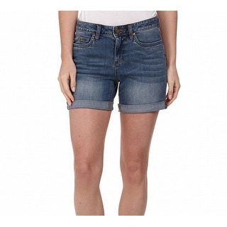 Two By Vince Camuto NEW Blue Women's Size 8 Cuffed Denim Shorts