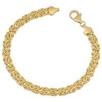 Mcs Jewelry Inc 14 KARAT YELLOW GOLD BYZANTINE BRACELET 6MM (7.25 INCHES)