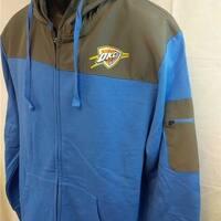 Oklahoma City Thunder Mens Size L Large Full Zip Hoodie Jacket