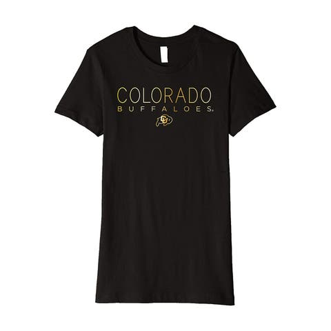 Bella Black Womens Size Small S Colorado Buffaloes Knit T-Shirt