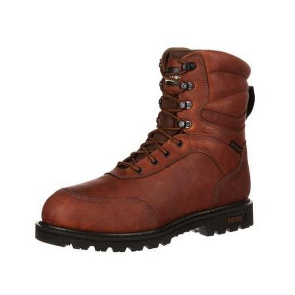 Rocky Outdoor Boots Men Brute Waterproof Insulated Brown