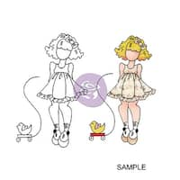 "Julie Nutting Mixed Media Cling Rubber Stamps-Little Girl 3.5""X8"""