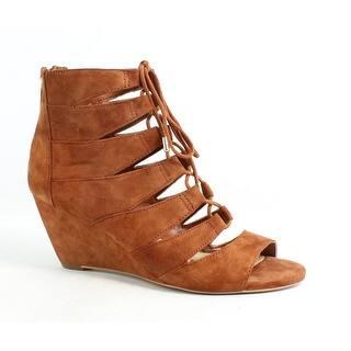 489d9d72b Sam Edelman Womens 00 387298 7F Cinnamon Suede Open Toe Heels Size 5.5