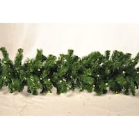 Christmas at Winterland WL-GARSQ-09-LWW 9 Foot Pre-Lit Warm White LED Sequoia Garland - Warm White