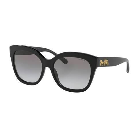 Coach HC8264F 500211 56 Black Woman Square Sunglasses