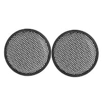 "6.6"" Dia Metal Mesh Round Car Woofer Cover Speaker Grill Black 2 Pcs"
