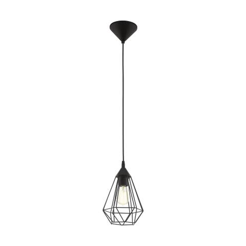 Eglo Lindell 1-Light Matte Black Pendant