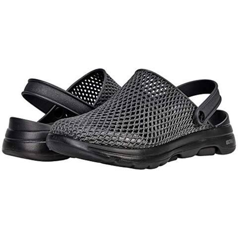 Skechers Women's Foamies Go Walk 5-Sea Scape Clog, Black