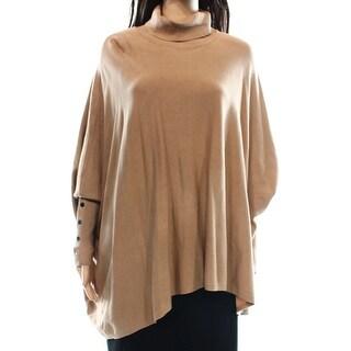 Alfani NEW Beige Women's Size Medium M Turtleneck Dolman Solid Sweater