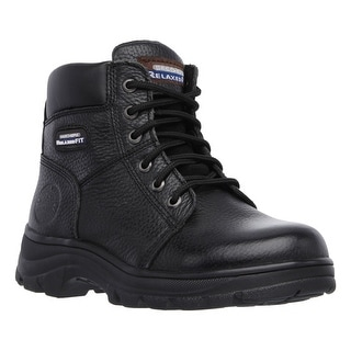 Skechers 76565 BLK Men's WORKSHIRE - FITTON Work