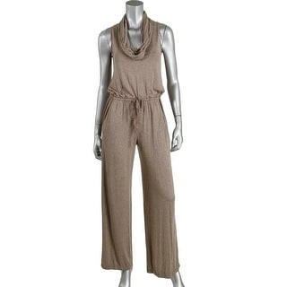 Max Studio Womens Heathered Sleeveless Jumpsuit - M