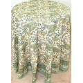 Handmade Rajasthan Paisley Floral Block Print Tablecloth 100% Cotton Rectangle Square Round - Thumbnail 13