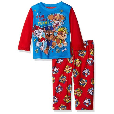 Nickelodeon Boys 2T-4T Paw Patrol 2-Piece Pajama Set - Red