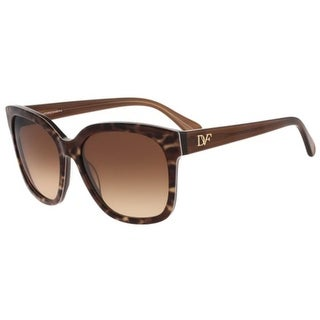 Diane Von Furstenberg Womens Julianna Butterfly Sunglasses Oversized - brown animal - o/s