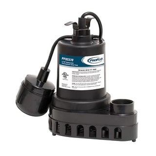 ProFlo PF92370 1/3 HP Thermoplastic Sump Pump with Tethered Switch