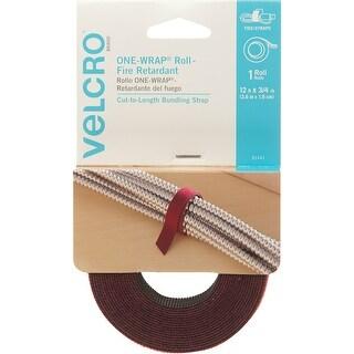 "Velcro(R) Brand One-Wrap(R) Fire Retardant Roll .75""X12'-Cranberry"