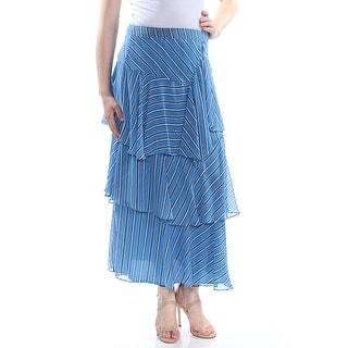 INC Womens Blue Striped Maxi Evening Skirt  Size 10