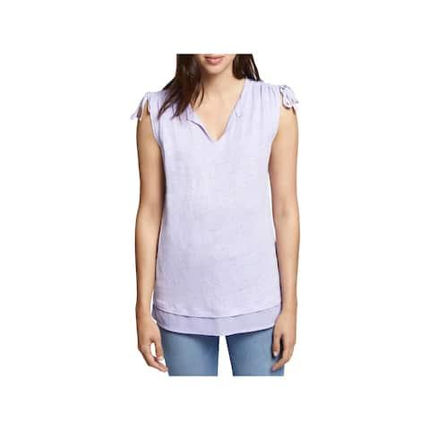 Sanctuary Womens Nora T-Shirt Linen Sleeveless