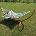 Sunnydaze Wooden Curved Arc Hammock Stand - Thumbnail 18